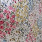 Patchwork quilt roses modern pink g..
