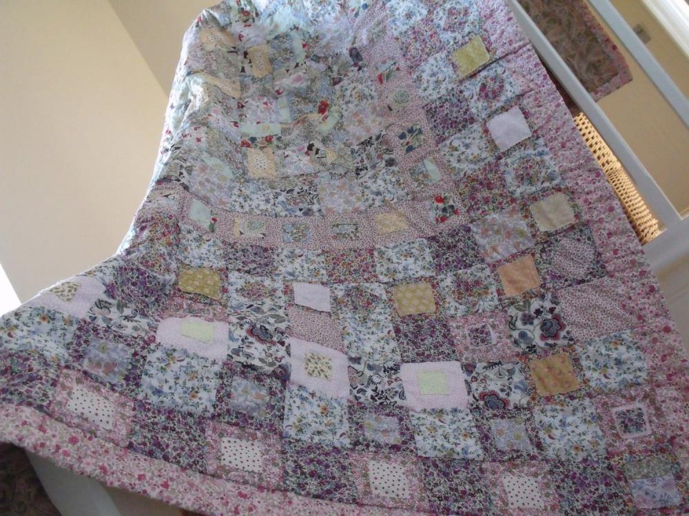 Enjoyable Patchwork Quilt Cottage Style Shabby Chic Style Quilt Handmade Quilt Cover Girls Patchwork Quilt Wedding Gift Interior Design Ideas Clesiryabchikinfo