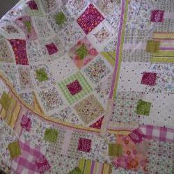 Patchwork quilt lap quilt sweetshop colours girls patchwork quilt wall hanging crib quilt