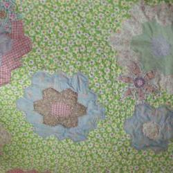 modern handmade spring colours patchwork quilt with flowers crib quilt sofa throw new baby gift